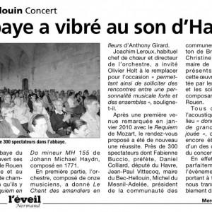 Concert Haydn par le choeur de Rouen Haute Normandie